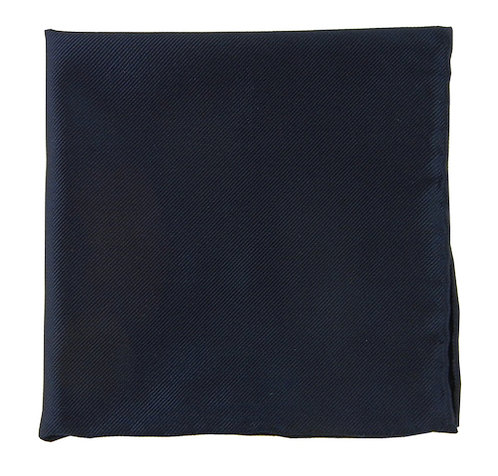 Midnight Navy Solid Pocket Square
