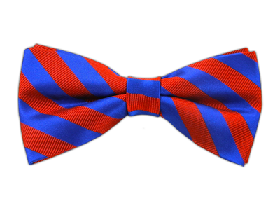Red/Royal Stripes Bowtie