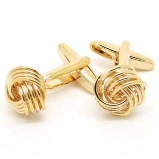 Gold Metal Knot Cufflinks