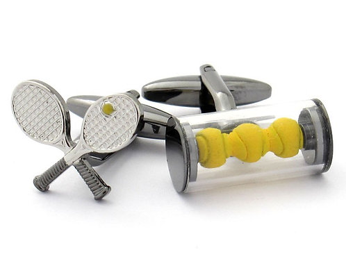 Tennis Raquet Cufflinks