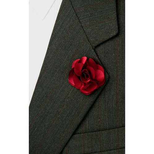 Burgundy Flower Pin