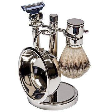 Four Piece Silver Shaving Kit