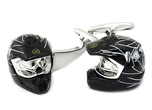 Motorcross Helmet Cufflinks