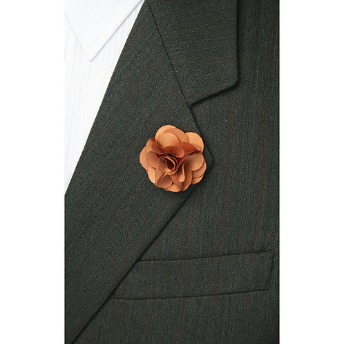 Light Brown Flower Pin