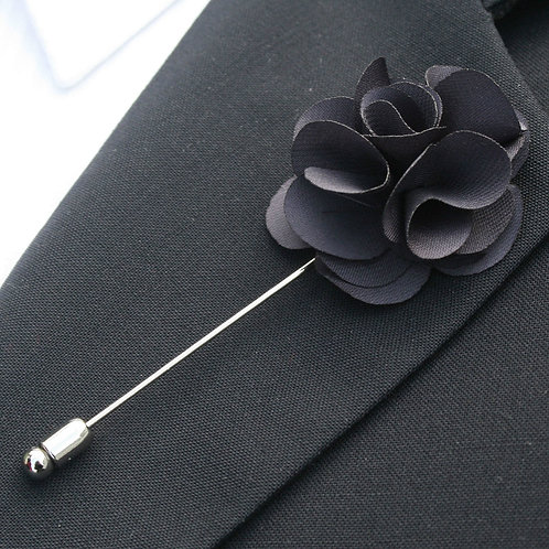 Characoal Flower Pin