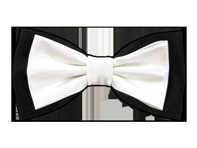 White over Black Elegance Bowtie