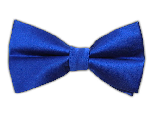 Solid Satin Blue Bow-Tie
