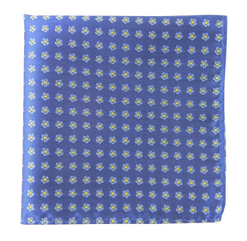 Blue/Yellow Small Flowers Pocket Square