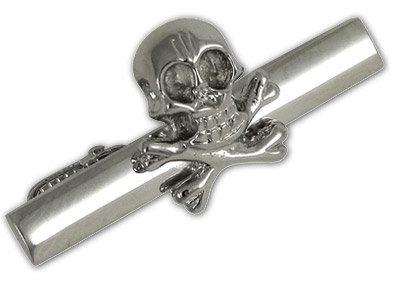 Skull and Crossbones Tie Bar