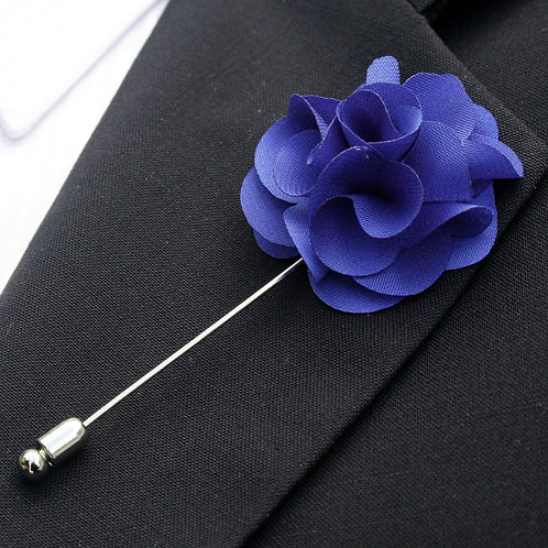 Royal Blue Flower Pin
