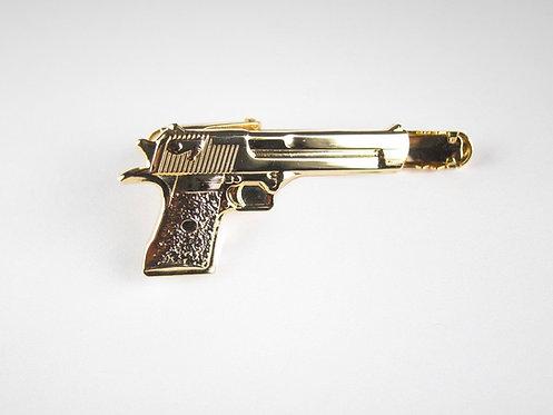 Gold Gun Tie Clip