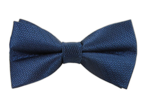 Bow Tie Wavy - Satin Blue