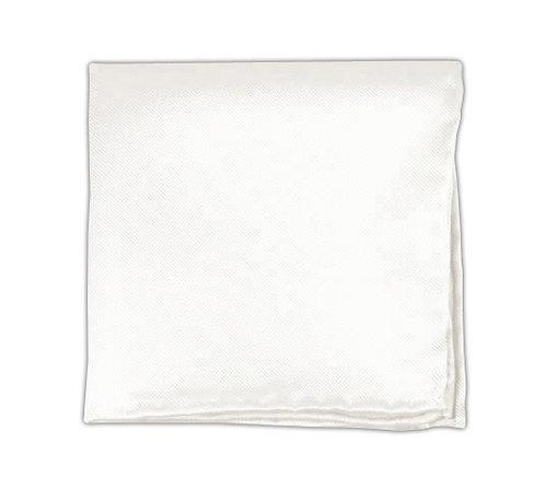 White Solid Pocket Square