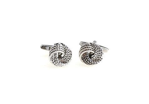 Silver Twist Knot Cufflinks