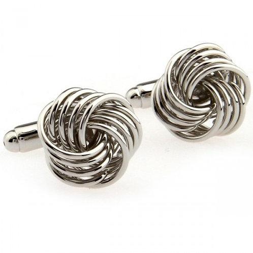 Silver Metal Knot Cufflinks