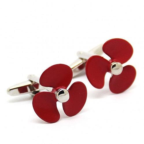 Red Propeller Cufflinks