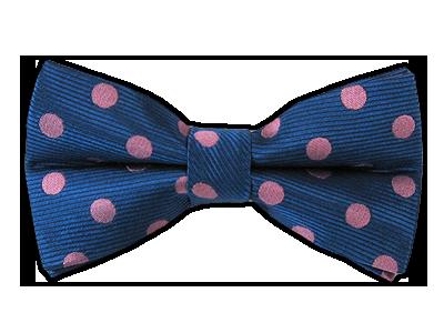 Blue/Pink Polka Dots Bowtie