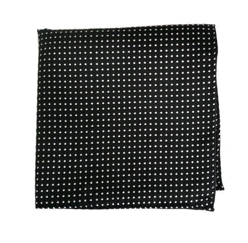 Black/White Polka Dots Pocket Square