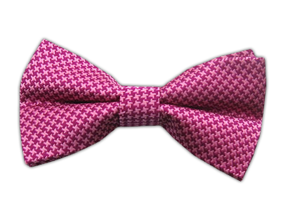 Fuscia/Pink Big Tooth Bowtie