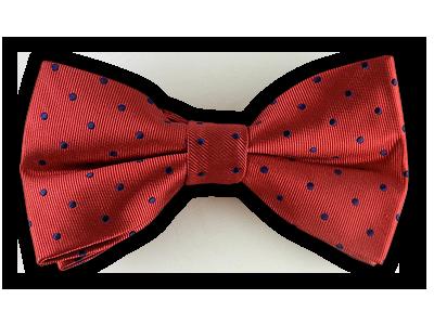 Red/Navy Polka Dots Bowtie