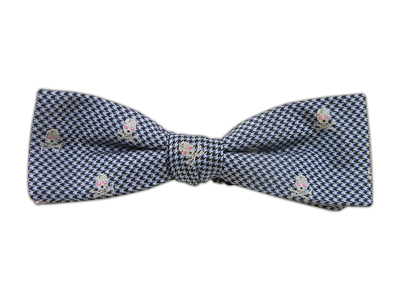 Thin Skull Tooth Navy Bowtie