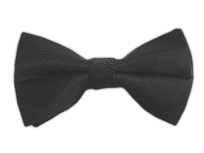 Characoal Solid Satin Bowtie