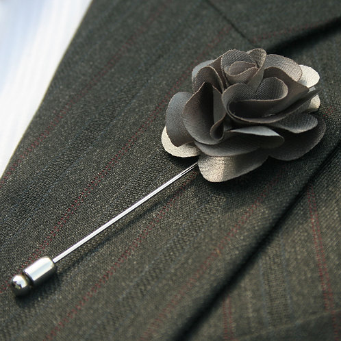 Silver Flower Pin