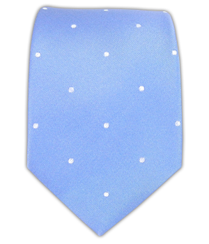 Satin Dot - Light Cornflower White