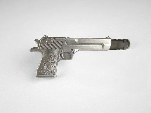 Silver Gun Tie Clip