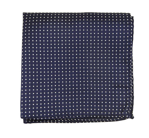 Navy Small Dots Pocket Square