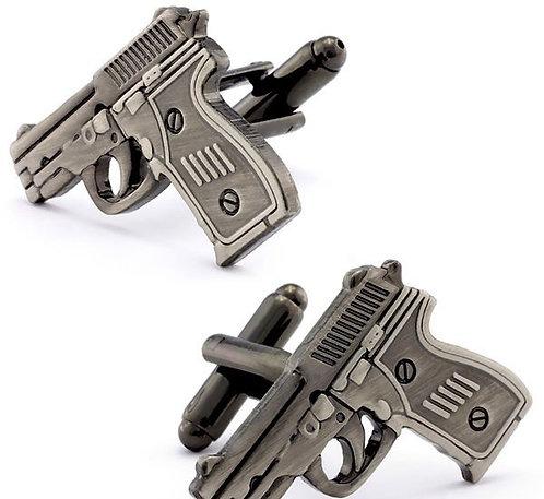 Silver Gun Cufflinks