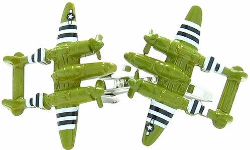 War Plane Military Cufflinks