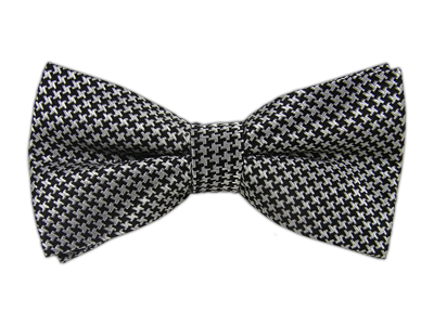 Black/Grey Big Tooth Bowtie