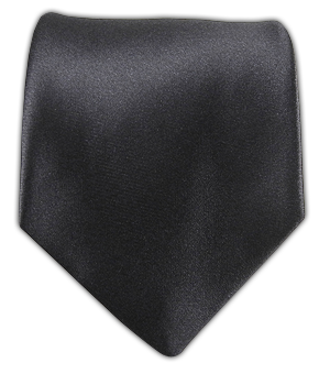 Solid Satin - Charcoal