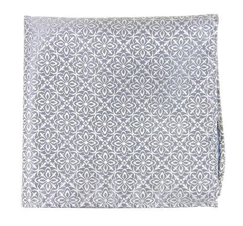 Silver Opulent Pocket Square