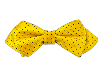 Yellow/Black Polka Dots Bowtie