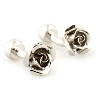Silver Roses Cufflinks