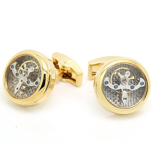 Gold Tourbillon Cufflinks