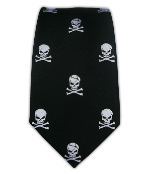 Skull and Crossbones - Black (Skinny)