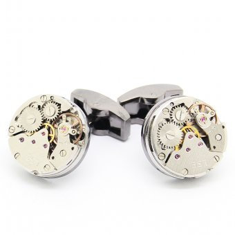 Gun Metal Watch Cufflinks