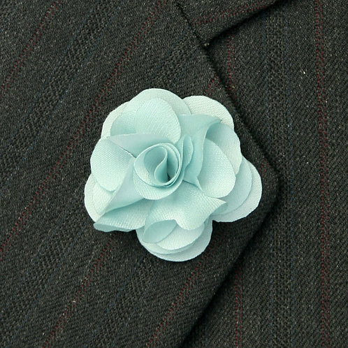 Mint Blue Flower Pin