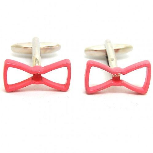 Pink Bowtie Cufflinks