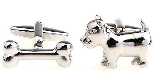 Dog and Bone Cufflinks