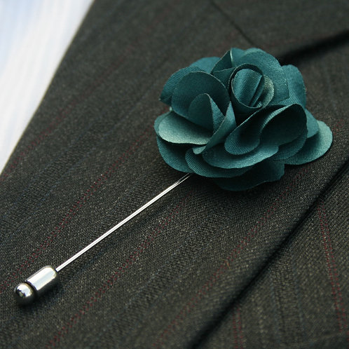 Teal Blue Flower Pin