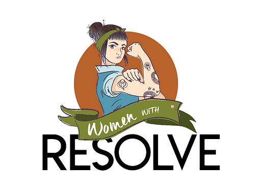 Women with RESOLVE sticker