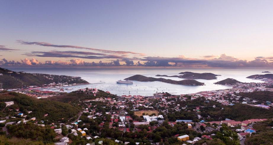 Charlotte Amalie USVI Sunset