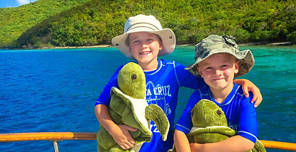 Kids on In Theory Charter Boat USVI