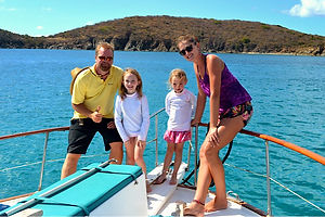 Family on St Thomas Boat Charter