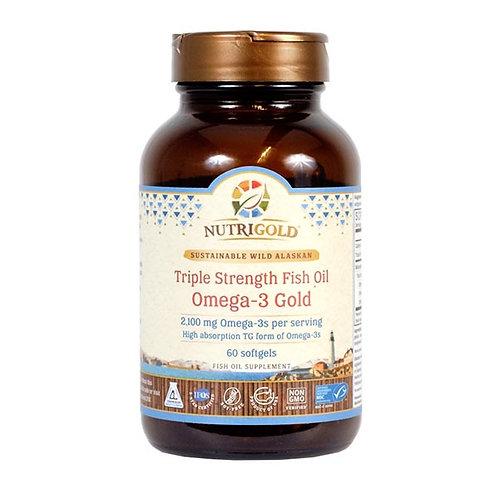 NutriGold, Triple Strength Omega-3 Fish Oil, 60sgls