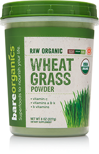 BareOrganics, Wheat Grass Powder 8oz